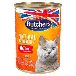 Natural&Healthy Karma dla dorosłych kotów kawałki w galaretce z wołowiną