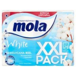 White Bawełniana Biel Papier toaletowy 24 rolki