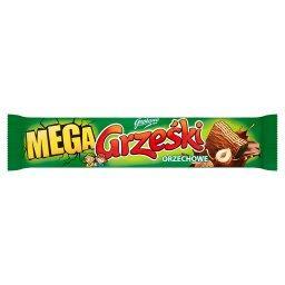 Mega Orzechowe Wafel przekładany kremem orzechowym w czekoladzie mlecznej
