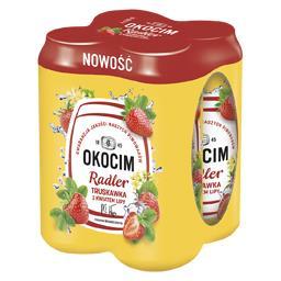 Piwo Okocim Radler Truskawka z kwiatem lipy, puszka ...