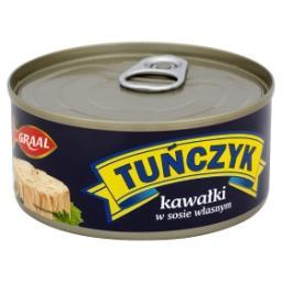 Tuńczyk kawałki w sosie własnym