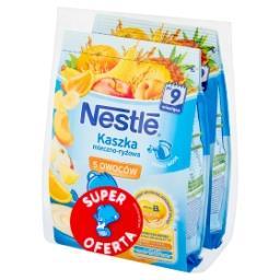 Kaszka mleczno-ryżowa 5 owoców po 9 miesiącu 460 g