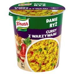 Danie Ryż Curry z warzywami