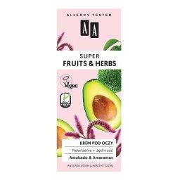 Super Fruits&Herbs krem pod oczy nawilżenie + jędrność 15 ml