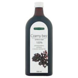 100% sok bezpośrednio wyciskany z owoców czarnego bzu