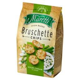 Pieczone krążki chlebowe o smaku śmietankowo-cebulowym