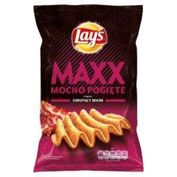 Maxx Mocno Pogięte o smaku chrupiący bekon Chipsy ziemniaczane