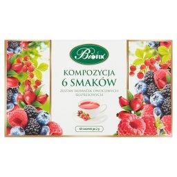 Zestaw herbatek owocowych ekspresowych kompozycja 6 smaków 120 g