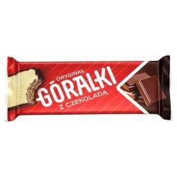 Z czekoladą Wafelki z kremowym nadzieniem w polewie ...