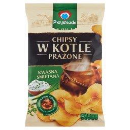 Chipsy w kotle prażone o smaku kwaśna śmietana