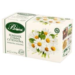 Rumianek z trawa cytrynową Herbatka ziołowa 35 g (20 torebek)