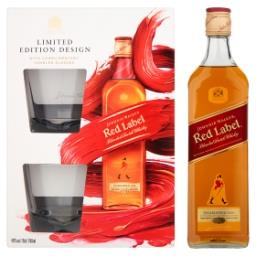 Red Label Scotch Whisky  + 2 szklanki Zestaw