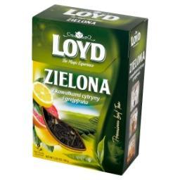 Herbata zielona z kawałkami cytryny i grejpfruta