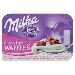 Jogurt z wafelkami z kremem o smaku orzechów laskowych w czekoladzie mlecznej