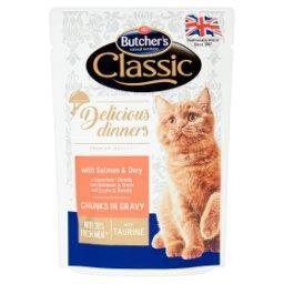 Classic Delicious Dinners Karma dla kotów kawałki w sosie z łososiem i doradą
