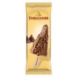 Lody kakaowo-miodowe z kawałkami czekolady mlecznej z miodem i nugatem migdałowym