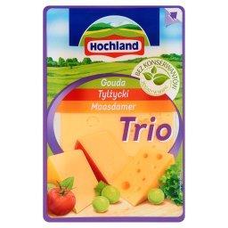 Trio Gouda Tylżycki Maasdamer Ser żółty w plastrach