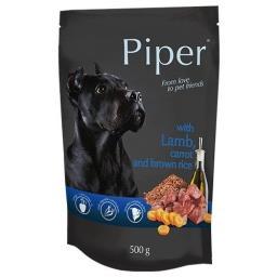 Piper animals mokra karma dla psa z jagnięciną, marchewką i ryżem brązowym 500g