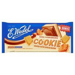 Cookie Czekolada mleczna z nadzieniem mlecznym z płatkami karmelowymi i herbatnikiem