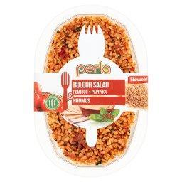 Sałatka z kaszy bulgur pomidor papryka & hummus