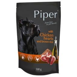 Mokra karma dla psa Piper Animals z sercami kurczaka i ryżem 500 g