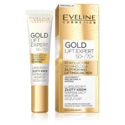 GOLD LIFT EXPERT Luksusowy złoty krem napinający kontur oczu i ust 50+/70+