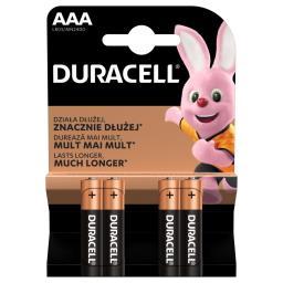 Alkaliczne baterie AAA, 4 szt. w opakowaniu