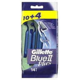 Blue II Plus Chromium Jednorazowe Maszynki Do Golenia Dla Mężczyzn, 10+4 sztuk