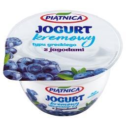 Jogurt typu greckiego z jagodami
