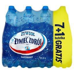 Woda źródlana gazowana 8 x 1,5 l
