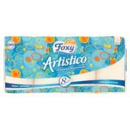 Artistico Papier toaletowy delikatnie dekorowany brzoskwiniowy 8 rolek