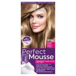 Perfect Mousse Trwała pianka koloryzująca Średni blond 800