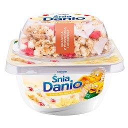 ŚniaDanio Serek homogenizowany smak waniliowy granola z porzeczką i kokosem