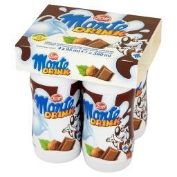 Monte Drink Napój mleczny z czekoladą i orzechami laskowymi 380 ml (4 x )