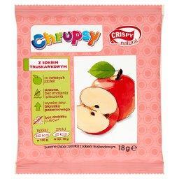 Chrupsy Suszone chipsy z jabłka z sokiem truskawkowy...