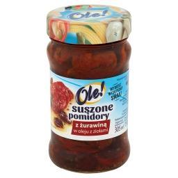 Suszone pomidory z żurawiną w oleju z ziołami
