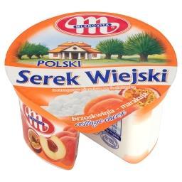Polski Wiejski brzoskwinia-marakuja Serek twarogowy ziarnisty ze śmietanką