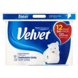Delikatnie Biały Papier toaletowy 12 rolek
