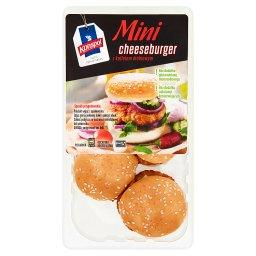 Mini cheeseburger z kotletem drobiowym