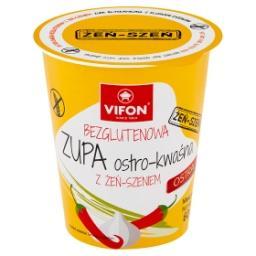 Bezglutenowa zupa ostro-kwaśna z żeń-szeniem