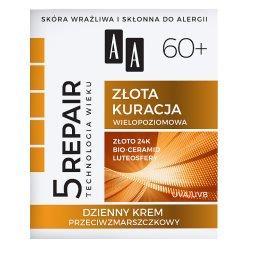 Technologia Wieku 5Repair 60+ Złota kuracja Dzienny krem przeciwzmarszczkowy 50 ml