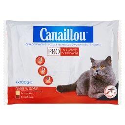 Pro Danie w sosie Pełnoporcjowa karma dla kotów po sterylizacji z drobiem i z wątróbką
