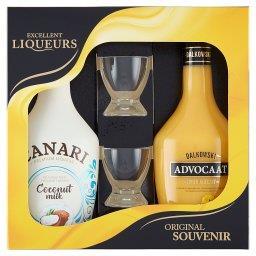 Excellent Liqueurs Dalkowski Advocaat Likier jajeczny 350 ml i Canari Likier 350 ml + kieliszek