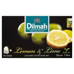 Cejlońska czarna herbata z aromatem cytryny i limonki  (20 torebek)