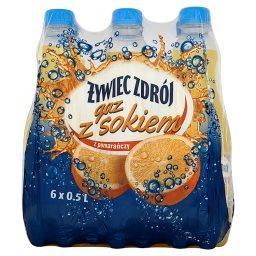 Gaz z sokiem z pomarańczy Napój gazowany 6 x 0,5 l