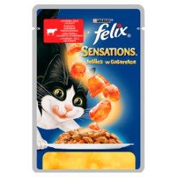 Sensations Karma dla kotów z wołowiną w galaretce z pomidorami