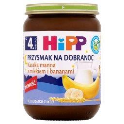 BIO Przysmak na Dobranoc Kaszka manna z mlekiem i bananami po 4. miesiącu
