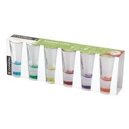 Kieliszki Lufa mix kolorów 6 sztuk