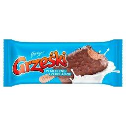 Lody kakaowe w czekoladzie mlecznej z kawałkami wafli