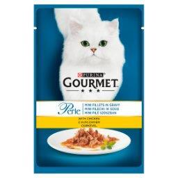 Perle Karma dla kotów mini fileciki w sosie z kurczakiem